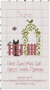 Cat Cross Stitch Patterns Fascinating Happiness is Cross Stitching Mini Cat Cross Stitch Freebies