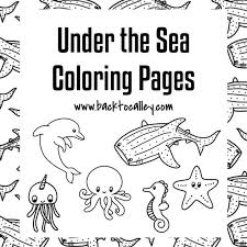 Please keep all copyright information intact. Under The Sea Coloring Pages Printable 8 5 X 11 Etsy