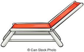 chair clipart. beach chair - close up red clipart