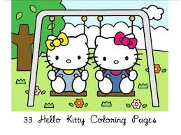 Look this awesome coloring page of hello kitty dressed as a mermaid and surrounded by beautiful flowers! Free Hello Kitty Coloring Book