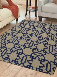 hand woven flat weave kilim wool square 64x64 area rug transitional cream blue d00104 getmyrugs com
