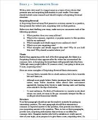 how to write an informative essay for middle school co example informative essay 22 outline format sample student