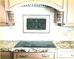 fruit accent tile backsplash lovely kitchen minus the strip glass stainless steel e copper gorgeous color
