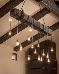 lighting natural tree branch chandelier decor wood chandelier