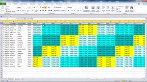 Scheduling Matrix Template Creating Your Employee Schedule In Excel