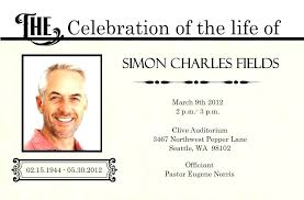 Funeral Invitation Template Inspiration Announcement Card Template Memorial Service Funeral Invitation