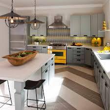 Yellow Kitchen Backsplash Yellow Gray Kitchen Cabinets Quicuacom