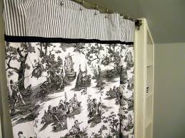 toile fabric shower curtain city girl can survive the 2 year plan