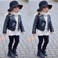 toddler faux leather jacket teenage girl motorcycle children jackets spring autumn