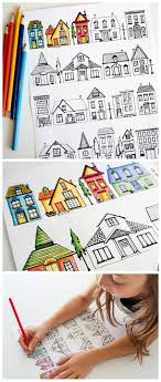 Houses Coloring Page - Dabbles \u0026 Babbles