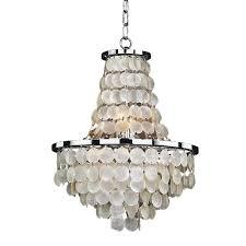 glow lighting chandeliers. Glow Lighting Bayside 8-Light Capiz Shell And Chrome Chandelier Chandeliers L
