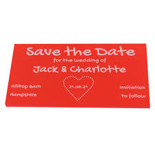 Red Save The Date Cards Wedding Save The Date Cards Personalised Wedding Mini Invites Pack Of 5 Dotty