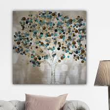 wexford home x27 a teal tree x27 by katrina craven canvas on canvas wall art overstock with shop wexford home a teal tree by katrina craven canvas wall art