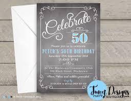 chalkboard 50th invitation male invitation chalkboard 40th invitation invitations 50th invitation party invitation