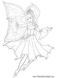 Fairies Coloring Pages Fairy Unicorn And Of