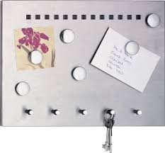 Kitchen Message Board Stainless Steel Kitchen Magnetic Memo Board With Key Hooks Amp