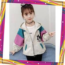 áo khoác cho bé, Áo gió 2 lớp Unisex từ 5 đến 14 tuổi M853 giá rẻ 89.900₫