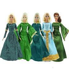 Rất nhiều Bản Sao Melinda Đầm Công Chúa Retro Cổ Điển Hình Hoạt Hình Đảng  Xanh Bầu Phụ Kiện Búp Bê Quần Áo cho Búp Bê Barbie Đồ Chơi|Dolls  Accessories