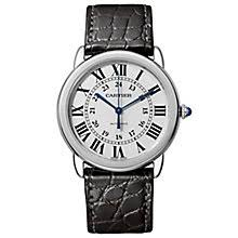 cartier watches ernest jones cartier ronde solo men s stainless steel strap watch product number 6140742