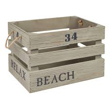 Decorative Wood Storage Boxes BuyBeach Look Storage Box Crate Decorative Storage The Range 2
