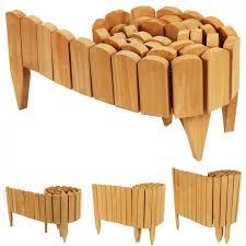 woodside wooden log roll border fence