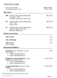 curriculum vitae layout template curriculum vitae example doc malawi research