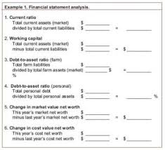 Asset Net Worth Analyzing A Net Worth Statement Agricultural Marketing