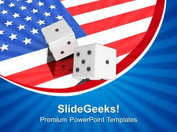American Flag Powerpoint Dice With American Flag Powerpoint Templates Ppt Backgrounds