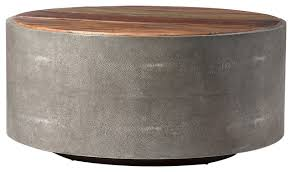 ter rustic modern grey faux reen wood round coffee table