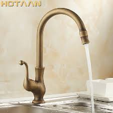 Free shipping <b>Kitchen Faucet Antique Brass</b> Swivel Bathroom Basin ...