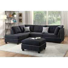 black sectional sofa. Modren Black Raelyn Reversible Sectional With Ottoman To Black Sofa R