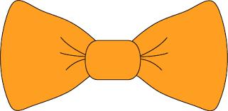 orange clipart png. orange bow tie clipart png