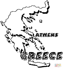Small Picture Map Greece coloring page Free Printable Coloring Pages