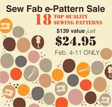 Pattern Sale Stunning Sew Fab EPattern Bundle Sale 48 PDF Sewing Patterns