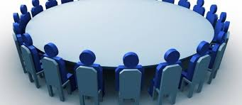 round table discussion clipart 89162