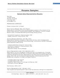 Sales Representative Resume Objective Yun56 Co Inside Technicalple