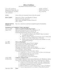 Early Childhood Teacher Resume Inspiration Special Education Teacher Sample Resume Magnificent Preschool