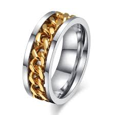 gay wedding bands for men. aliexpress.com : buy meaeguet 8mm men\u0027s rock ring stainless steel cuban link chain in middle wedding rings jewelry us size 6 15 from reliable gay bands for men