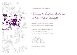 Free Downloadable Wedding Invitation Templates Violet Flower Wedding Invitation 37