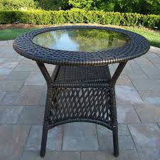 oakland living elite resin wicker 25 in w x 25 in l round steel