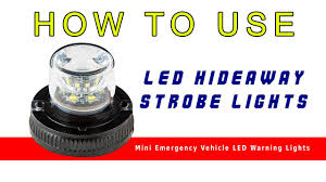 Small Led Strobe Lights Led Hideaway Strobe Lights Mini Emergency Vehicle Led Warning Lights