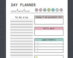 Daily Checklist Planner Day Planner Printable Fillable Pdf Daily Planner Weekly Etsy