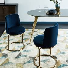 blue velvet dining chairs. Cora Dining Chair - Velvet Blue Chairs