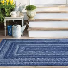 indigo blue ultra wool braided rugs