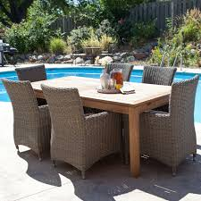 outdoor patio table and chairs set. cool brown rectangle modern wooden wicker outdoor patio furniture plain design ideas: table and chairs set