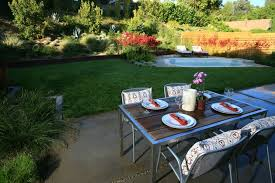 backyard landscaping design. Exellent Landscaping Modern Backyard Design Spa Dining Table Landscaping Lisa Cox Landscape  Design Solvang On A