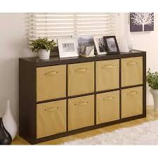 ... Shelf Storage Bins Vintage Minimalist Furniture Decor Indoor On Living  Room With Color Brown ...