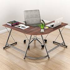 shaped home office. SHW L-Shaped Home Office Corner Desk Wood Top, Espresso Shaped
