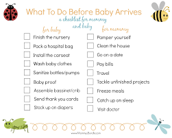 16 Things To Do Before Baby Arrives Free Printable Mommys Bundle