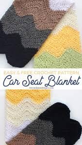 free crochet baby car seat blanket pattern